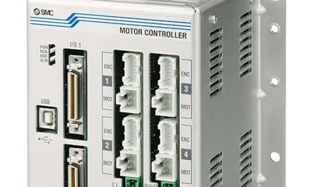 SMC's new 4-axis step motor controller