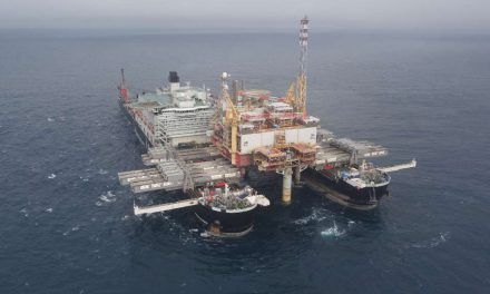 Lifting a 48,000-ton platform in the open ocean is no easy task