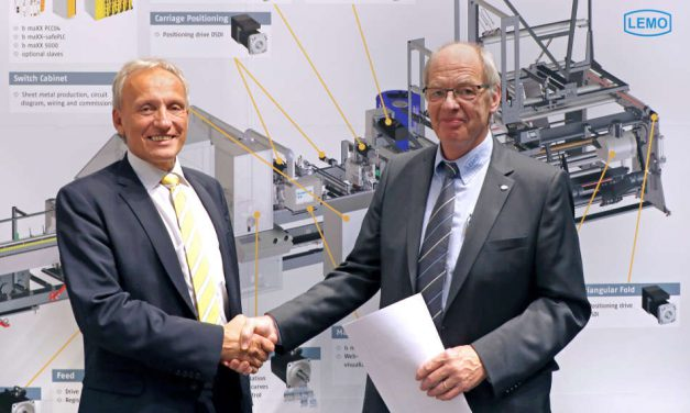 Baumüller and LEMO: Partnership for Foil Bag Machine