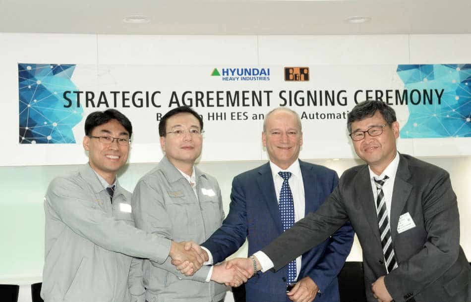 B&R and Hyundai Heavy Industries enter strategic partnership