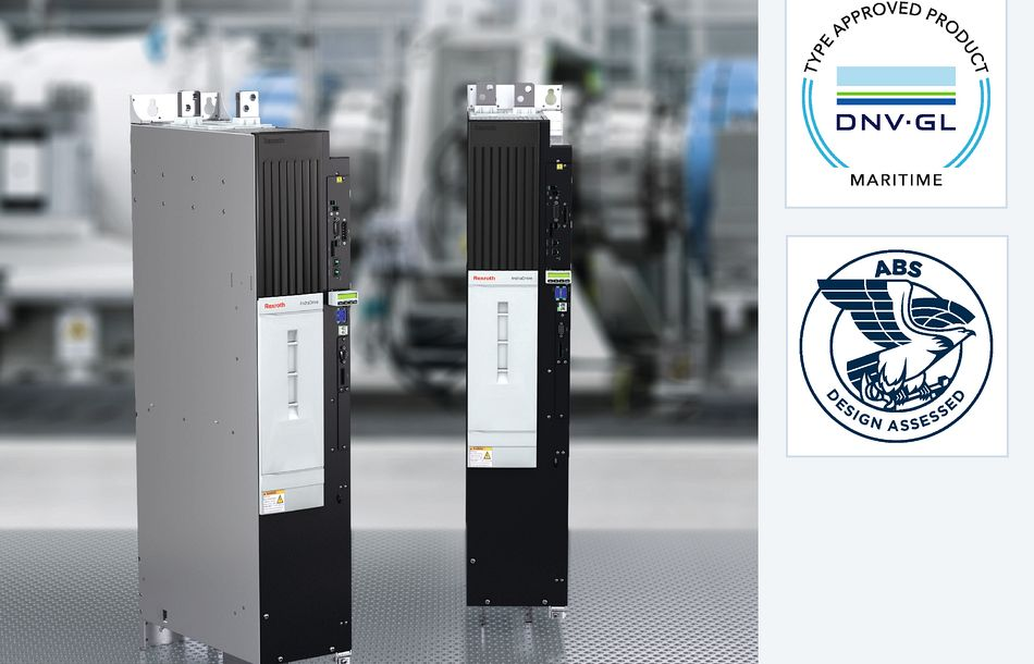Large Electric Drives from Rexroth are certified for marine applications