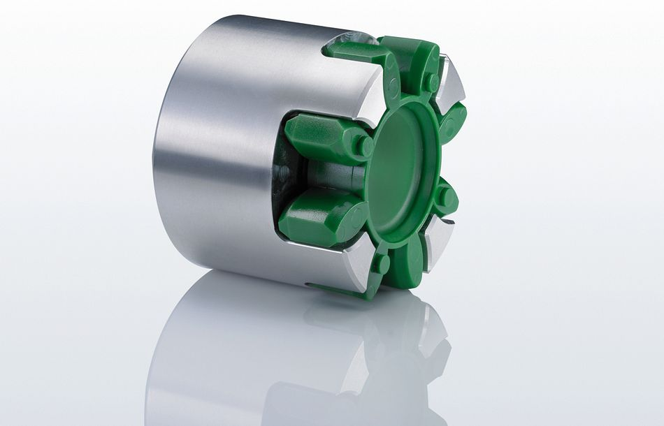 Elastic jaw couplings for hydraulics applications
