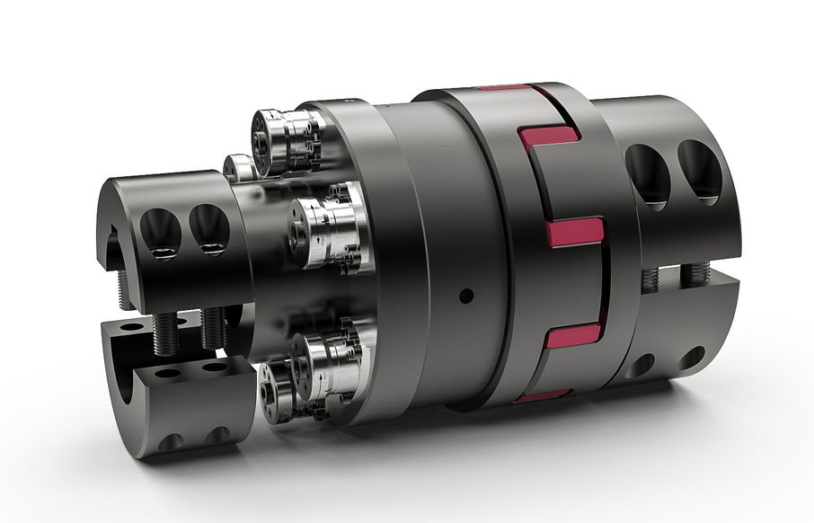 Lateral mounting safety couplings for extruders