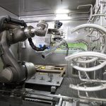 Kuka robot in multi-stage washing application
