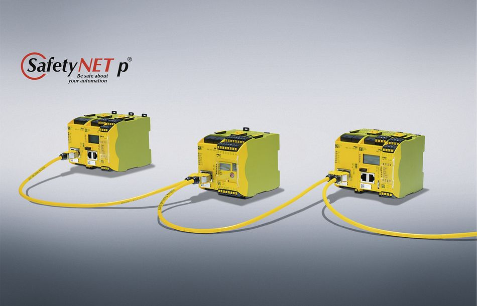 Safe Pilz controllers now with communication via SafetyNET p