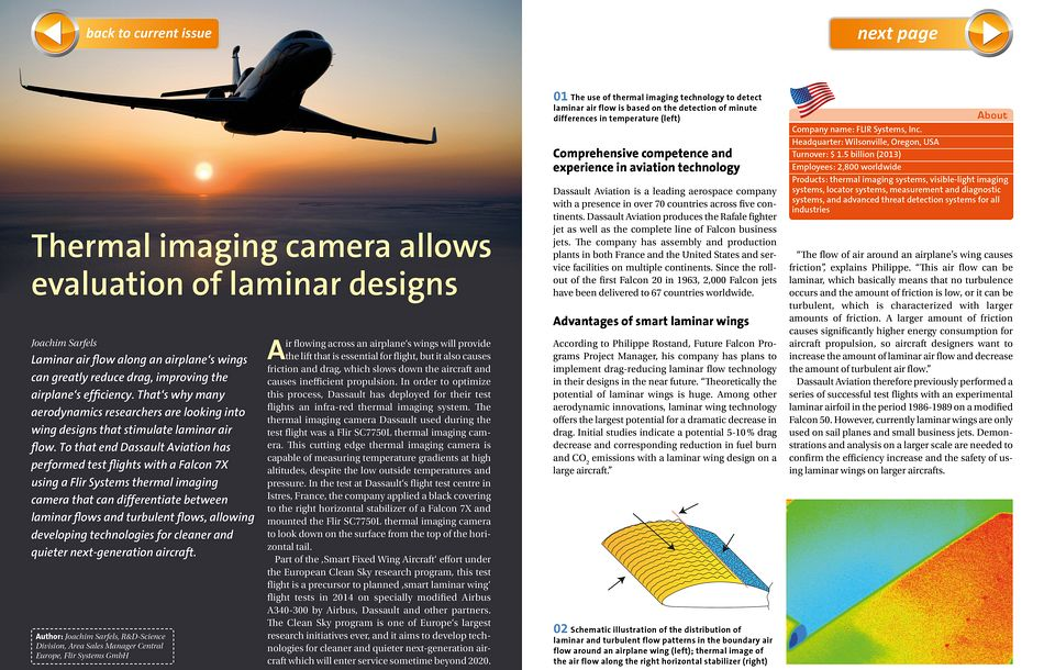 Thermal imaging camera allows evaluation of laminar designs
